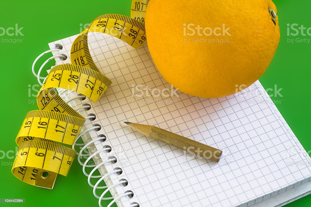 Diet journal royalty-free stock photo