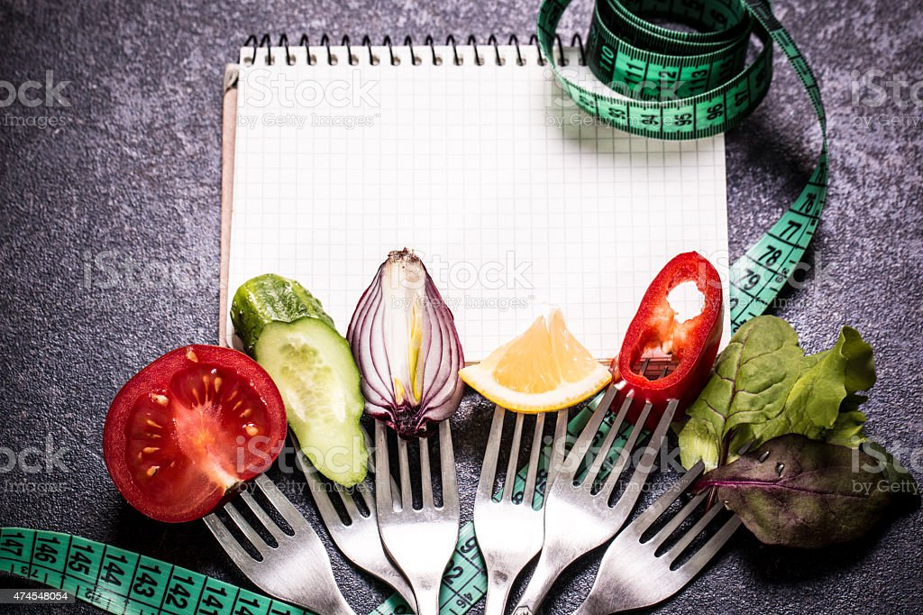 Diet meal. Vegetables salad in a bowl stock photo