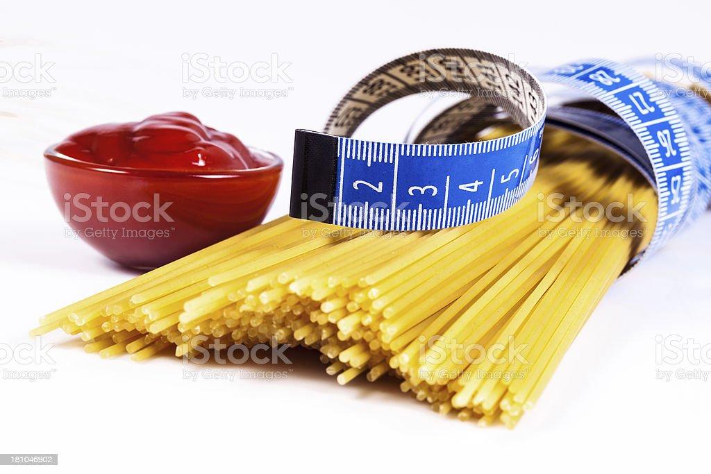 Diet Pasta royalty-free stock photo