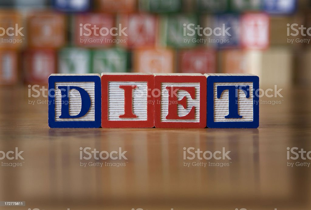 diet (also see tinted version) royalty-free stock photo