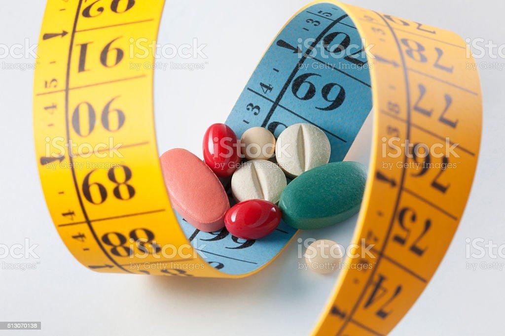 Diet pills stock photo