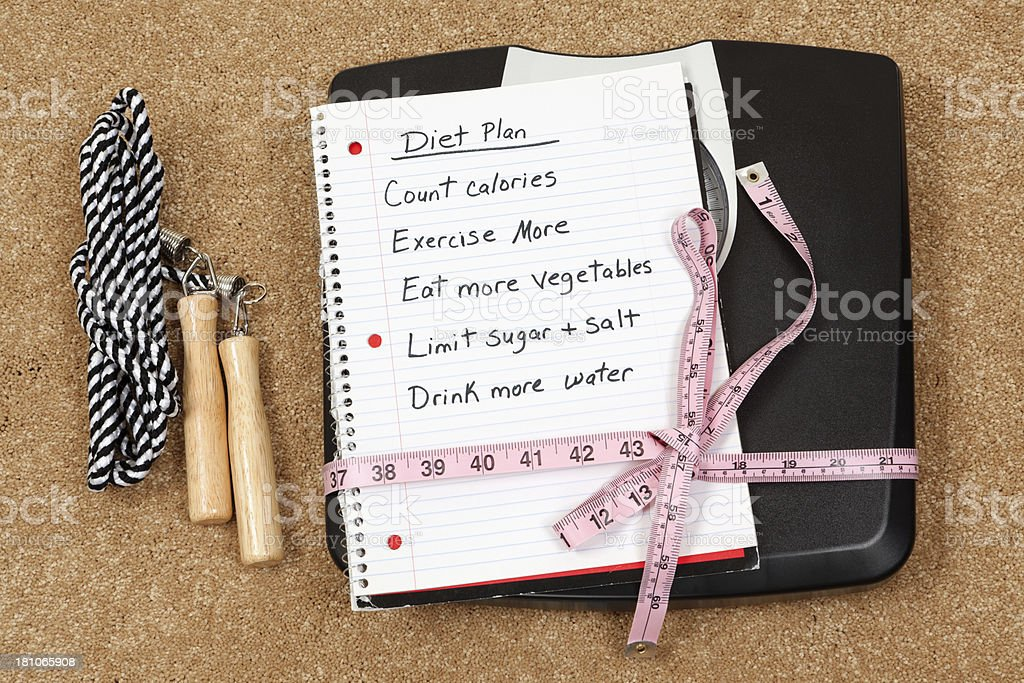 Diet Plan and Healthy Lifestyle royalty-free stock photo