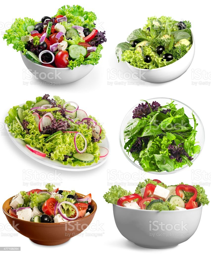 Diet, salad, feta stock photo