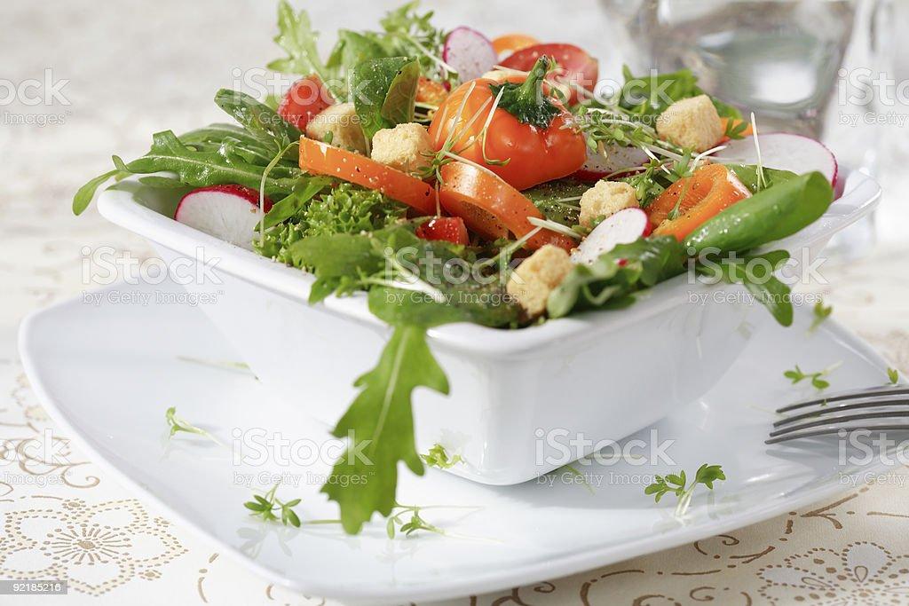 Diet salad stock photo