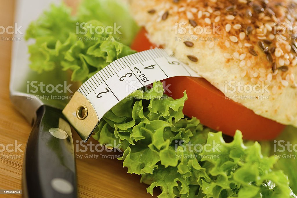 Diet Sandwich royalty-free stock photo