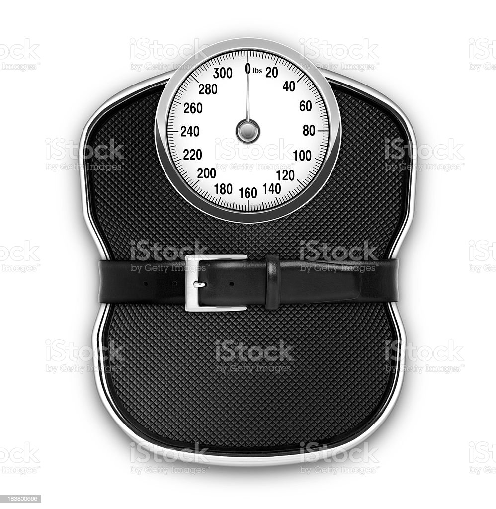 Diet Scale (lbs) (with Clipping Path) royalty-free stock photo