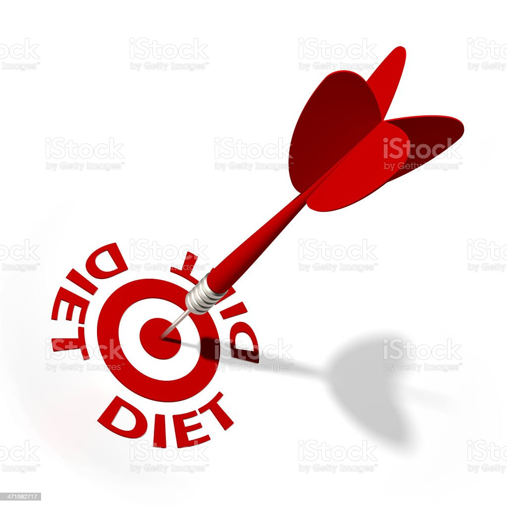 Diet Target royalty-free stock photo
