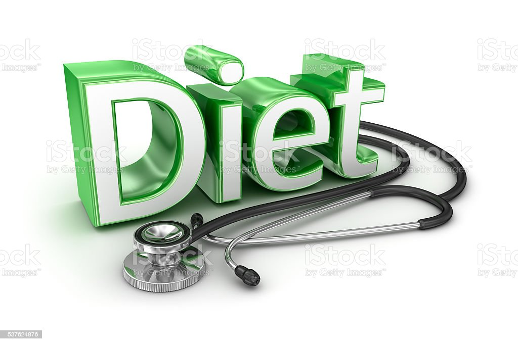 Diet text, 3d medicine Concept stock photo