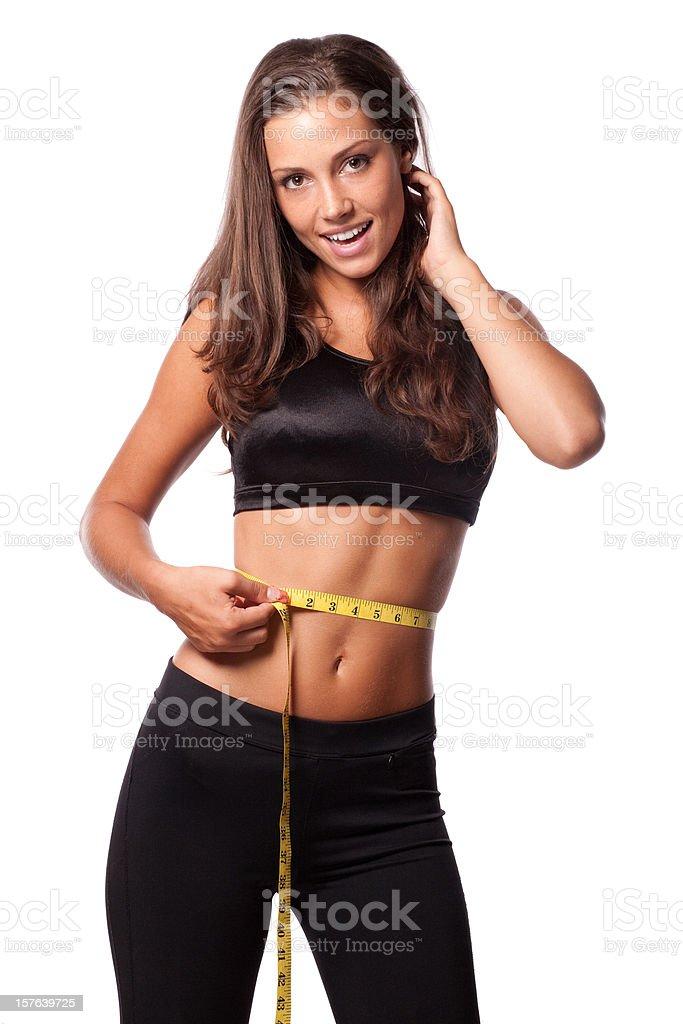 Diet waist measure royalty-free stock photo