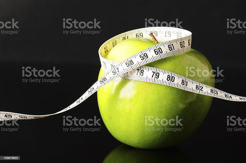 diet with green apple royalty-free stock photo