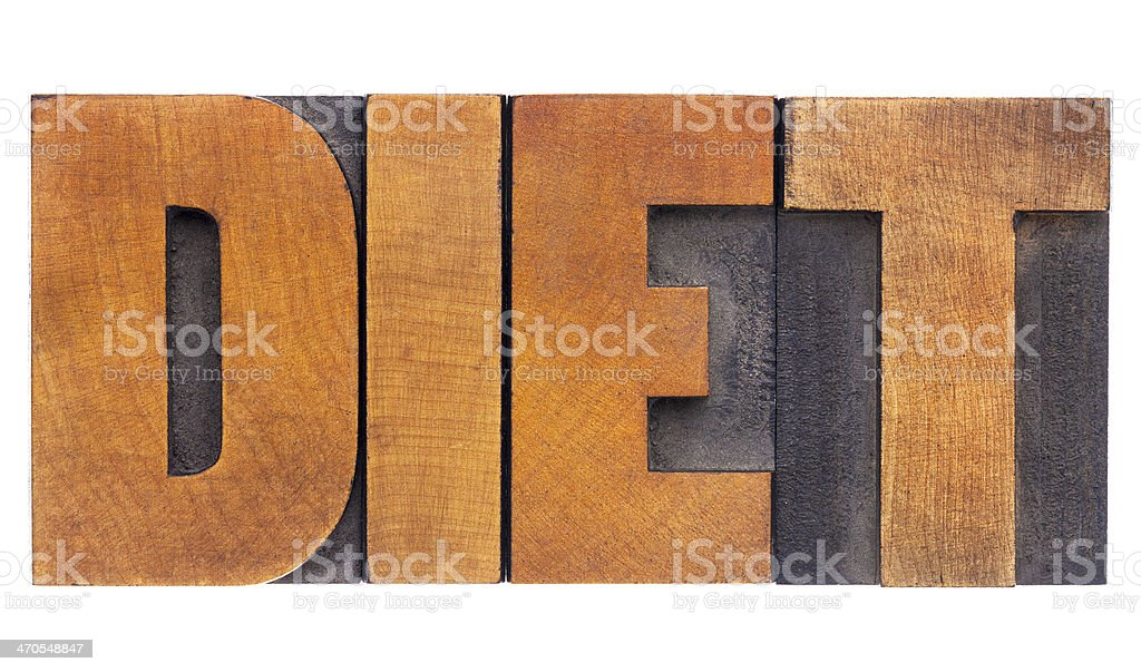 diet word in wood type royalty-free stock photo
