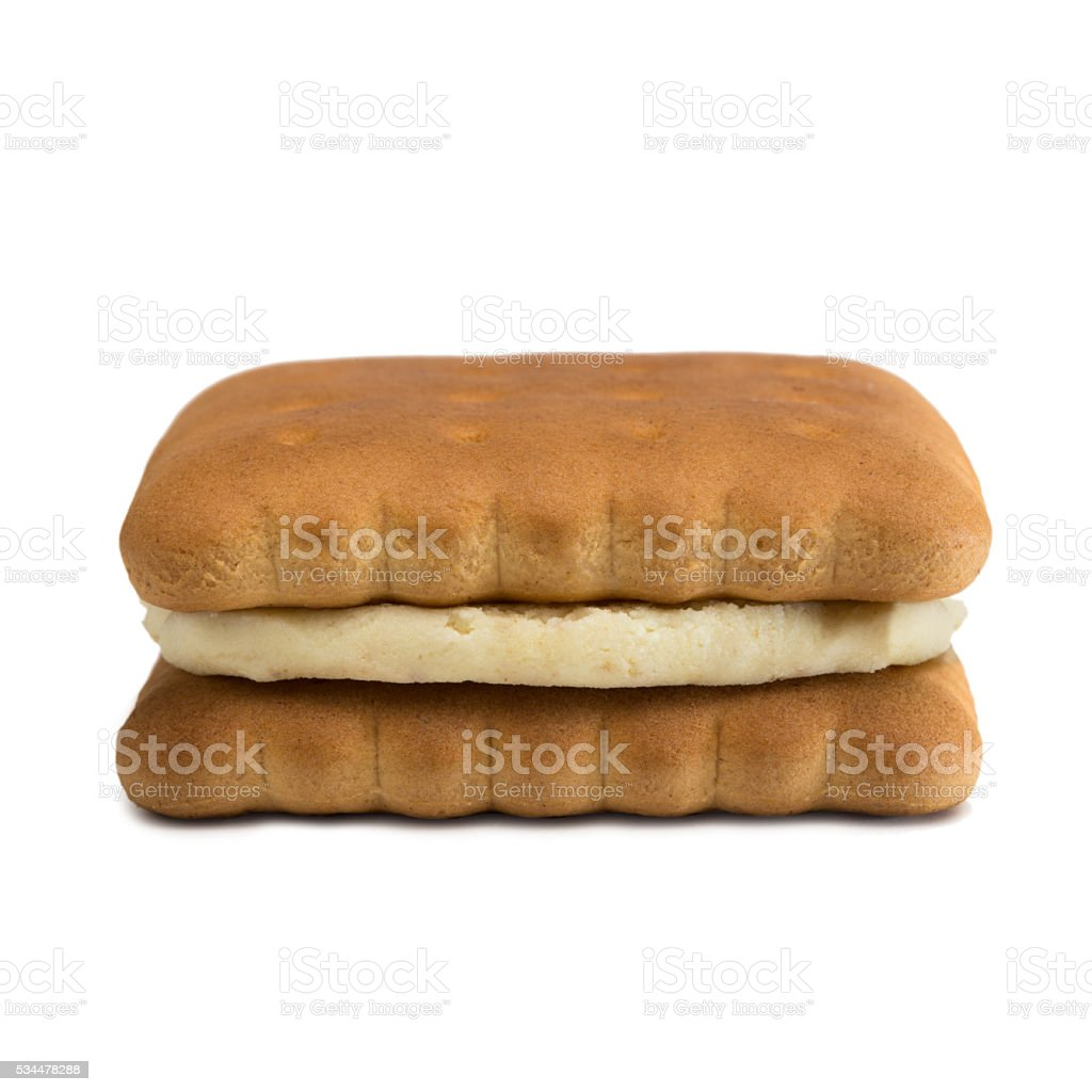 Dietary cookies isolated on a white background stock photo