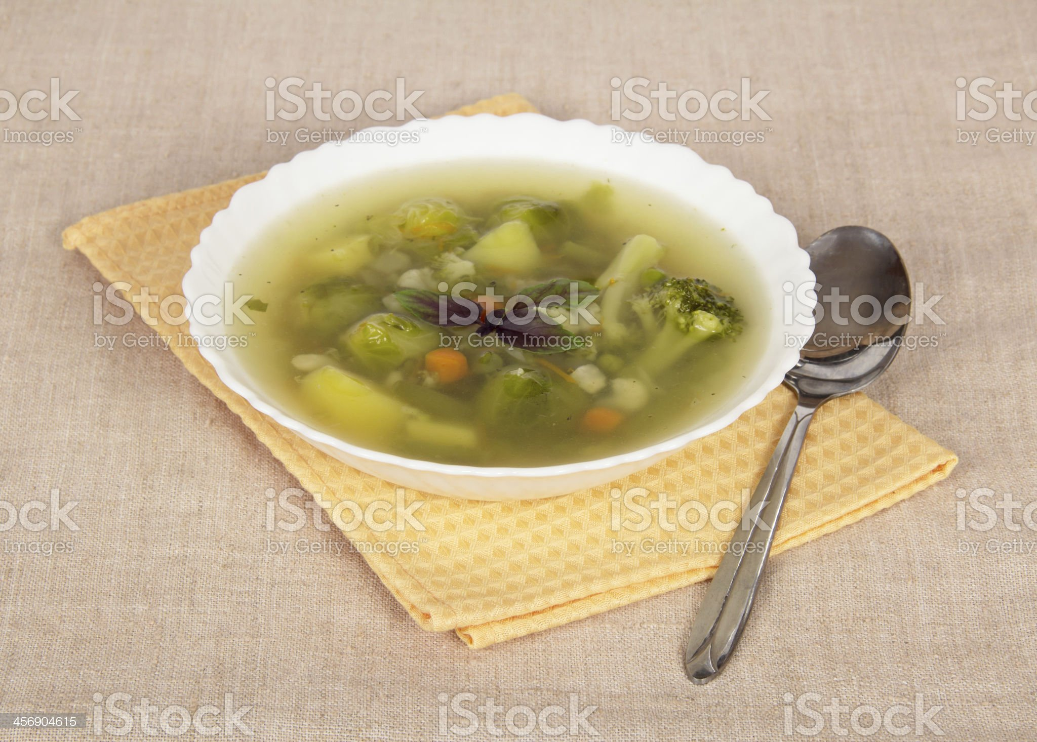 Dietary vegetable soup royalty-free stock photo
