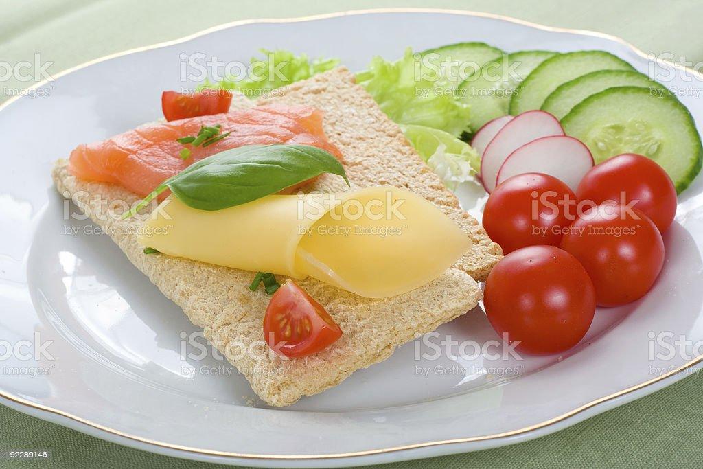 dietetic sandwich royalty-free stock photo