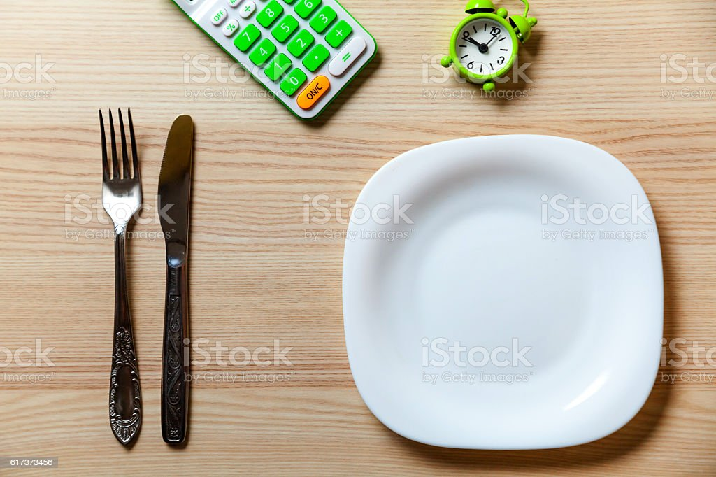 Dietic set on a table stock photo