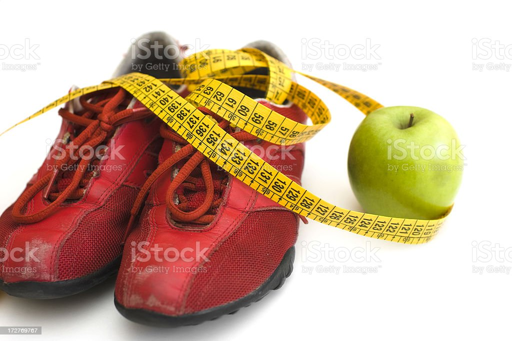 dieting and exercise series royalty-free stock photo