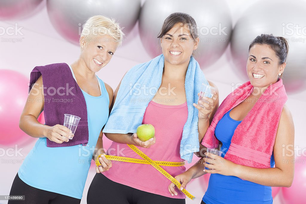 dieting and fitness royalty-free stock photo
