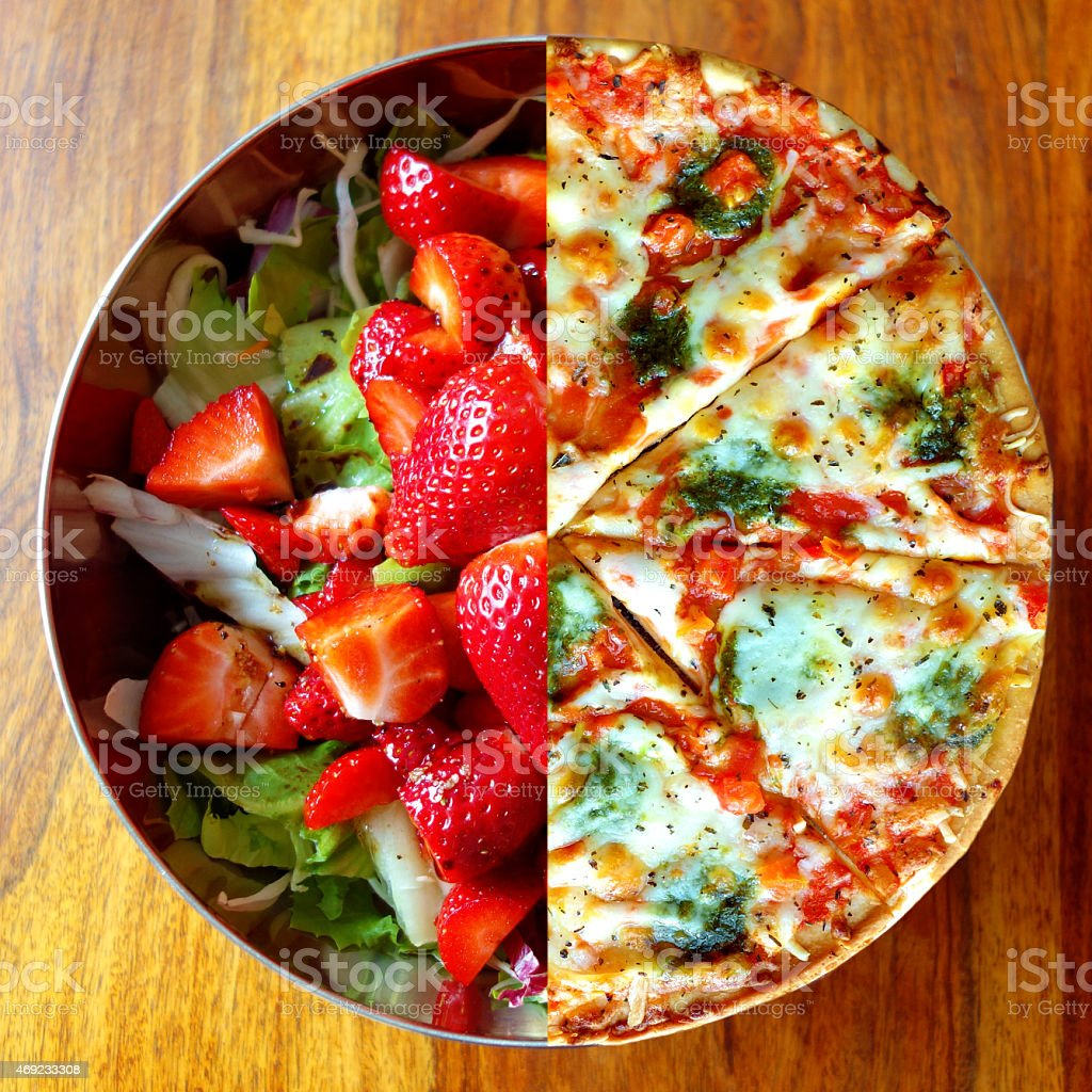 Dieting – change your choice of food! stock photo
