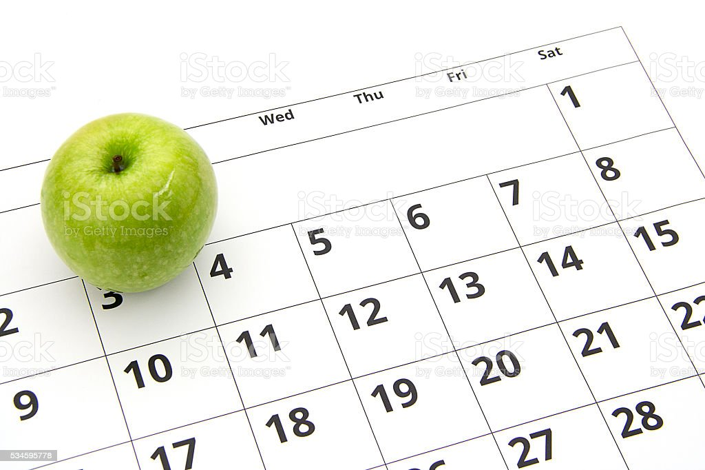 Dieting concept apple stock photo