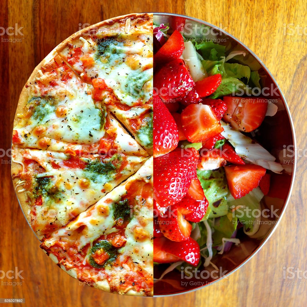 Dieting – food choices stock photo