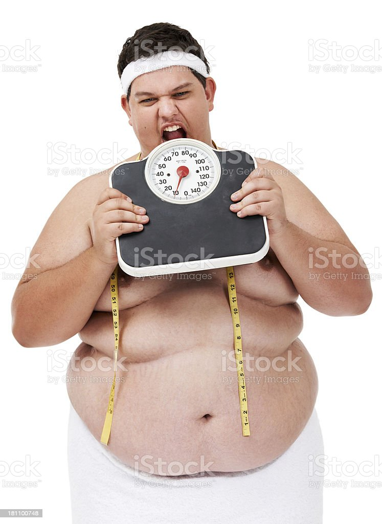 Dieting is driving me crazy! royalty-free stock photo