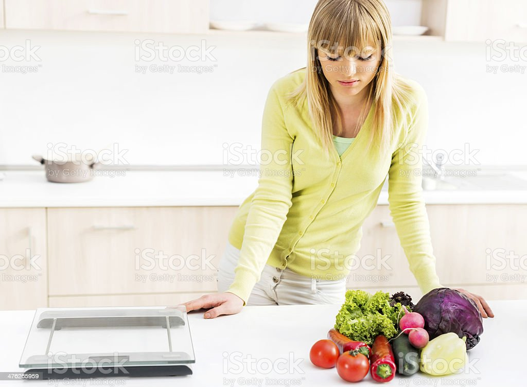 Dieting problems. royalty-free stock photo