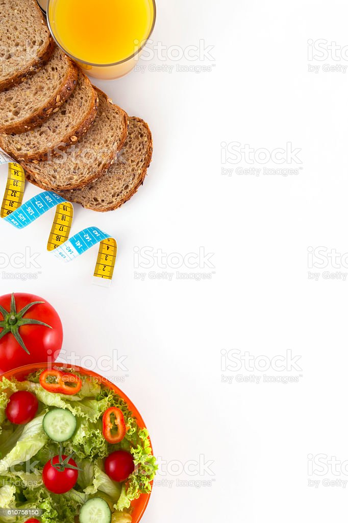 Dieting with Healthy Foods stock photo
