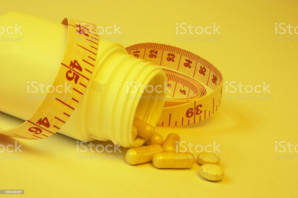 Dieting With Pills royalty-free stock photo