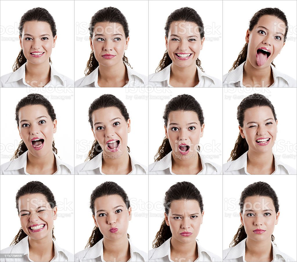 Diferent expressions royalty-free stock photo
