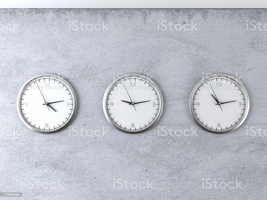 diferent time zones stock photo