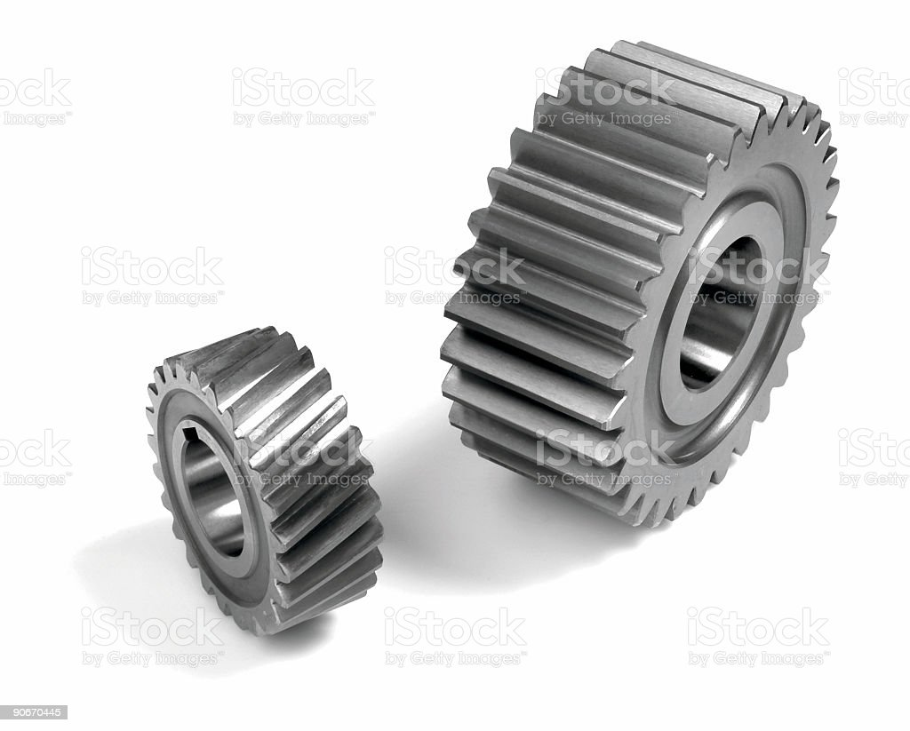 Differantial gears royalty-free stock photo