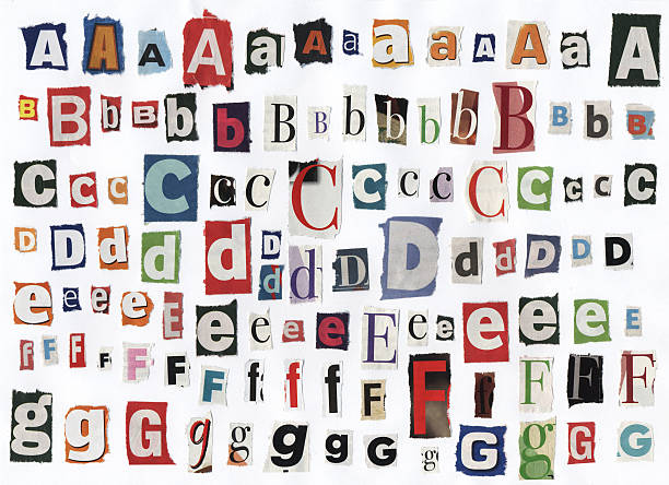 Alphabet paper cut designs pictures images and stock photos istock different alphabet letters cut out of newspaper stock photo spiritdancerdesigns Choice Image