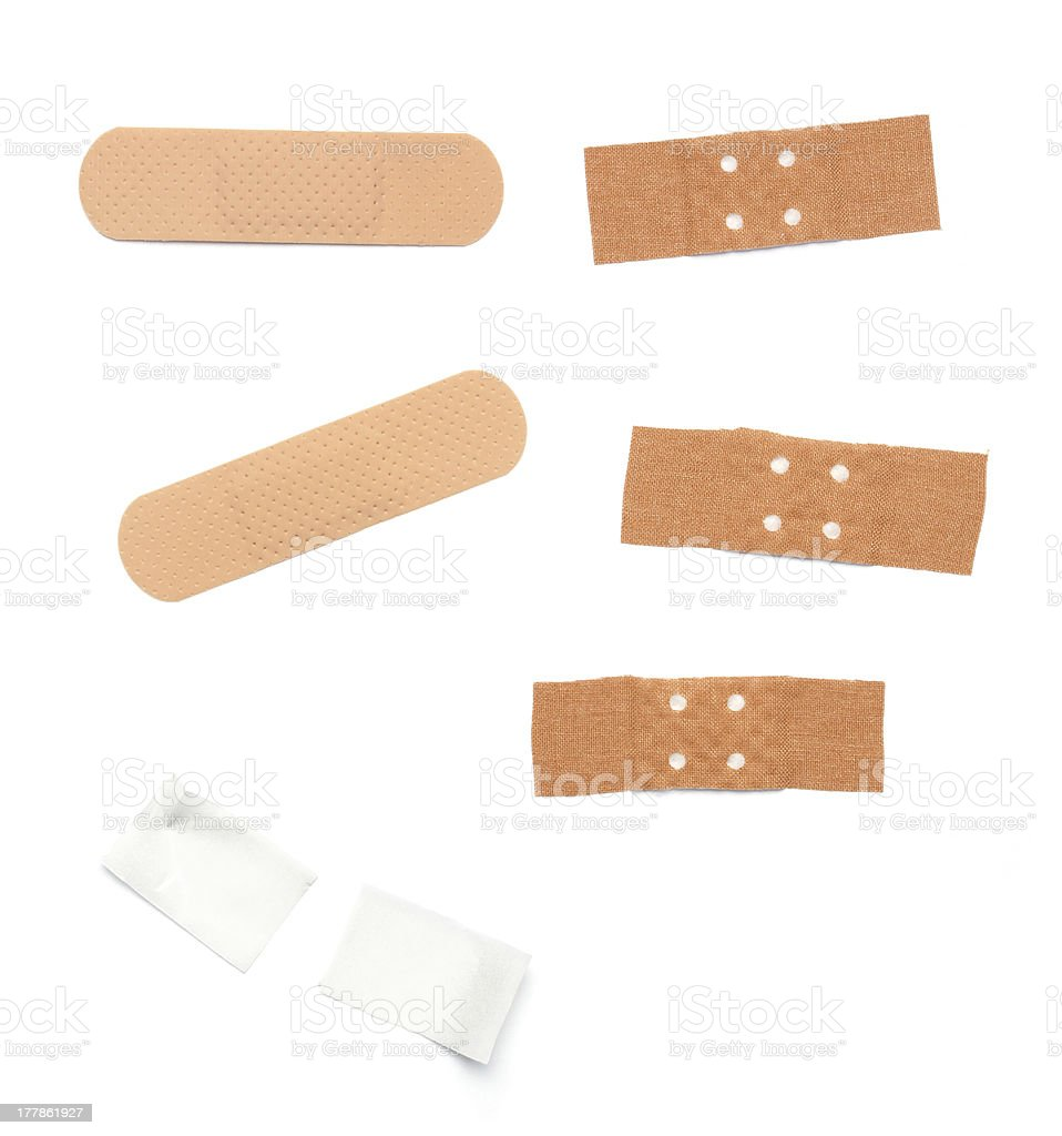 Different band aids royalty-free stock photo