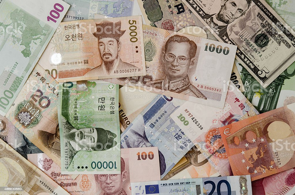 Different Banknotes currency stock photo