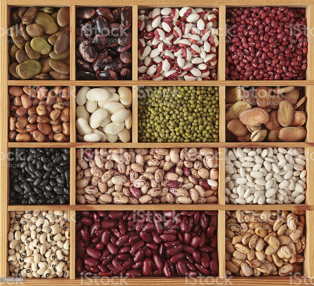 Different beans royalty-free stock photo