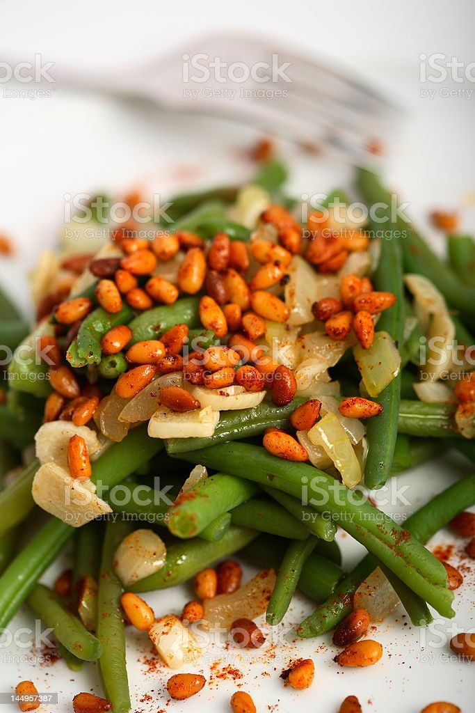 Different beans with oven nuts royalty-free stock photo