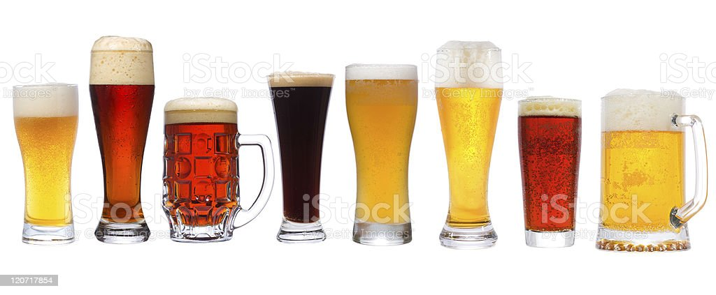different beer royalty-free stock photo