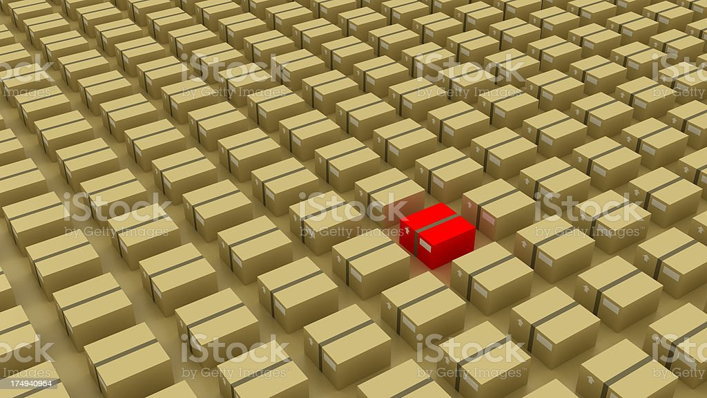 Different box royalty-free stock photo