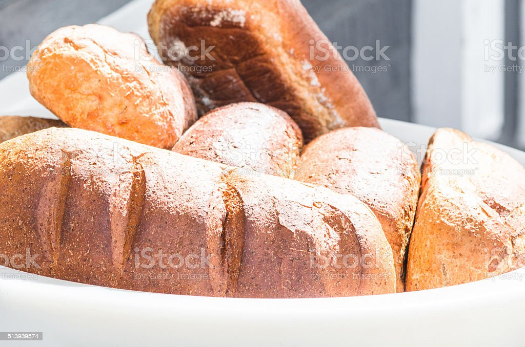 Different breads stock photo