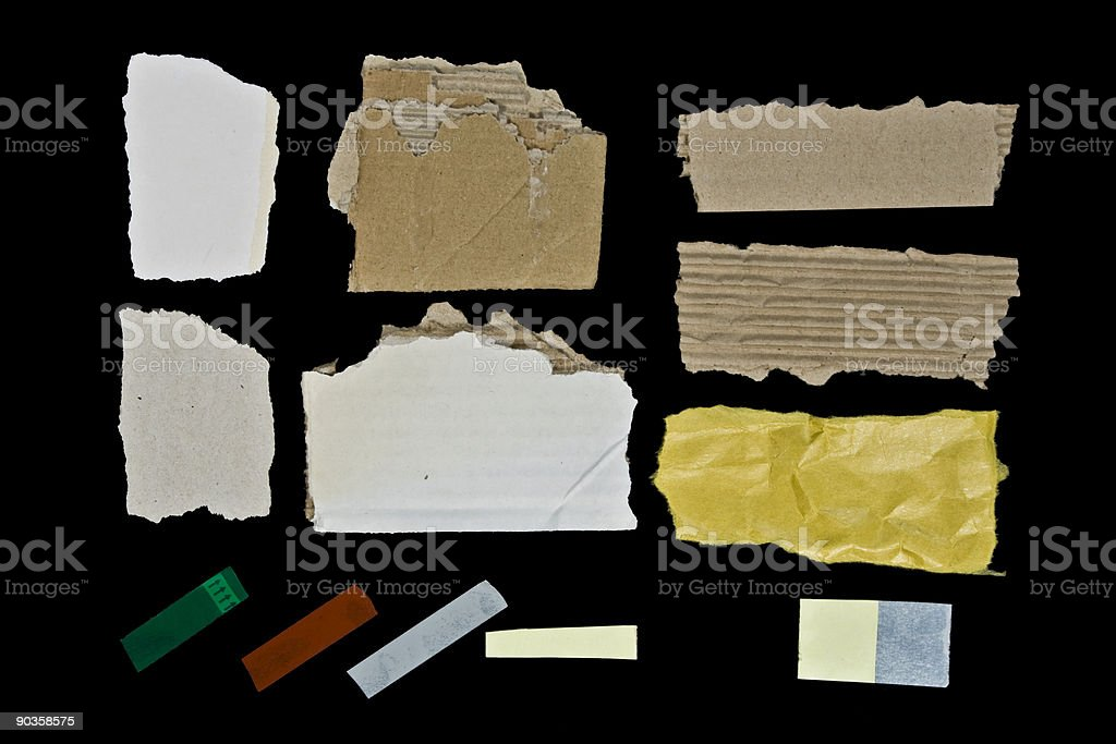 Different cardboard and tapes royalty-free stock photo
