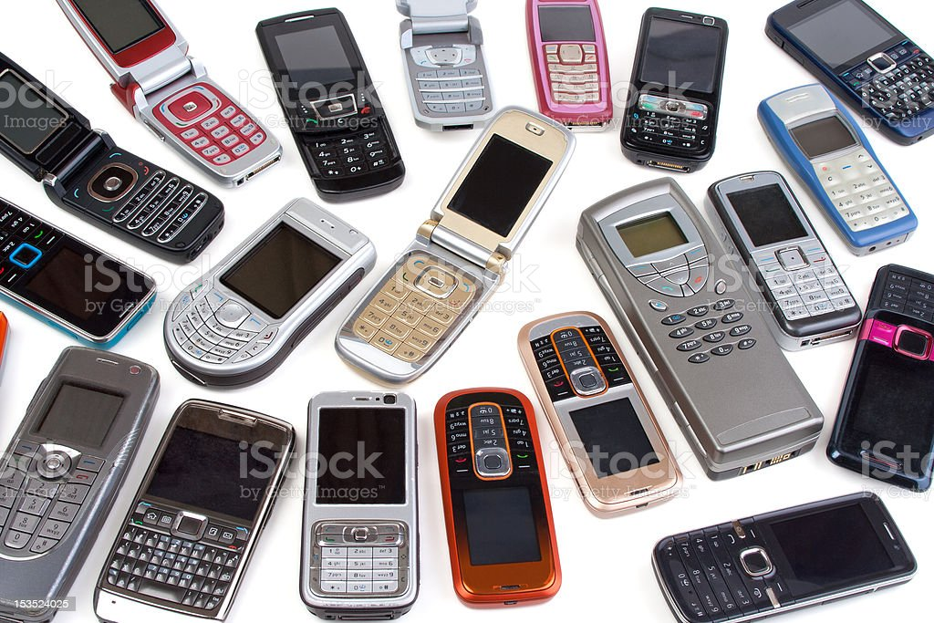 Different cell phones royalty-free stock photo