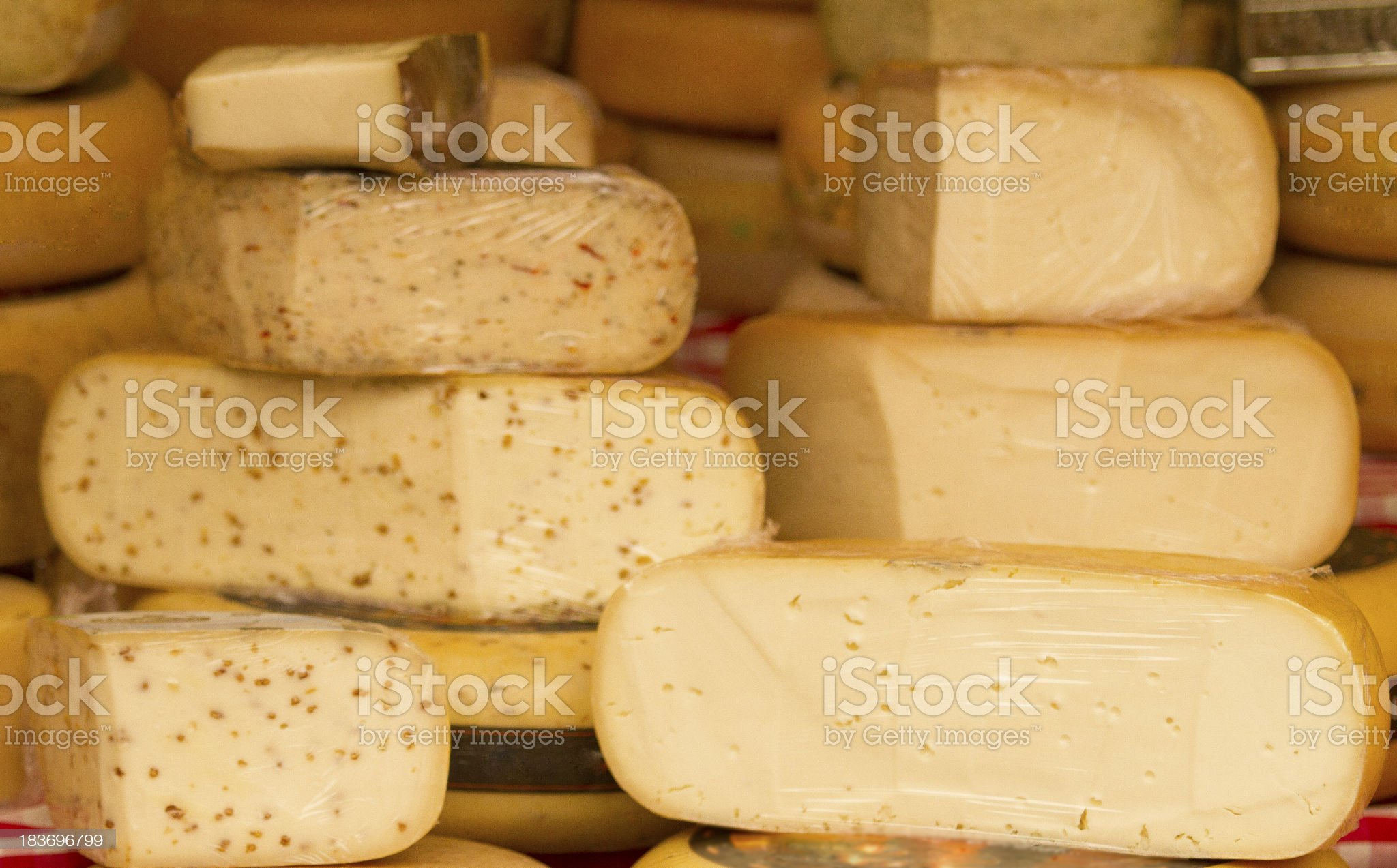 Different cheese royalty-free stock photo