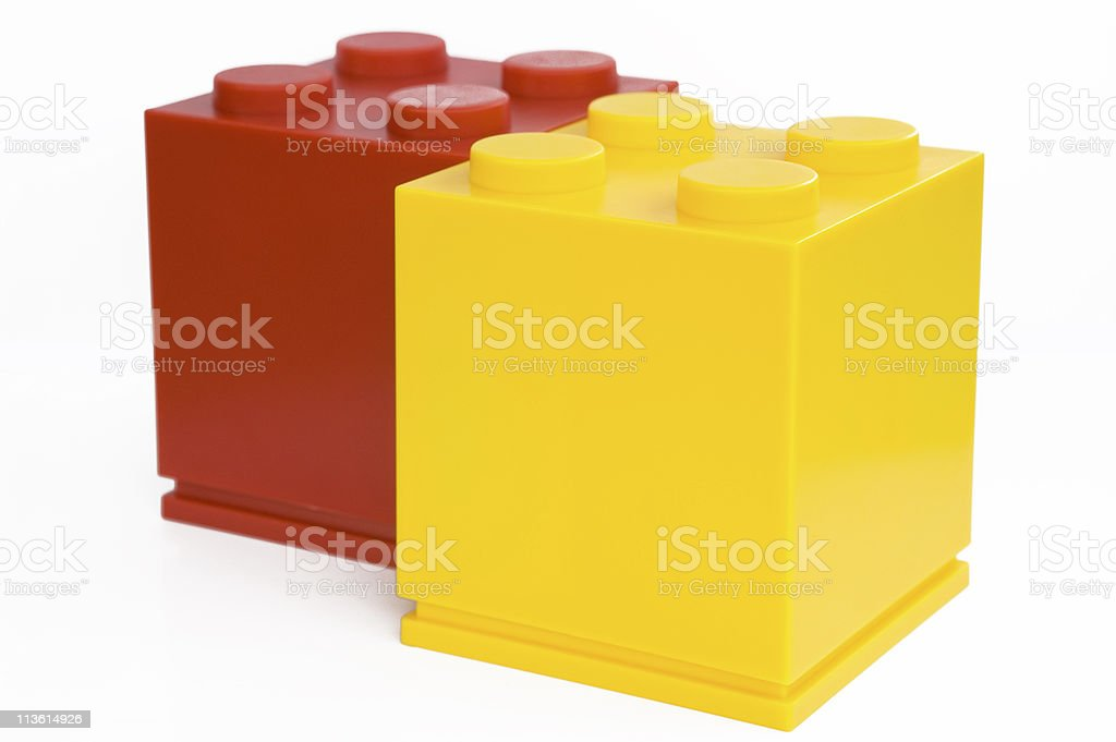 different color cube stock photo