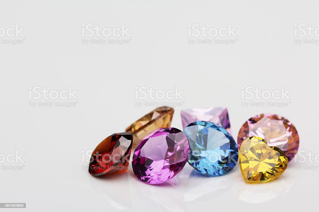 different color gems stock photo