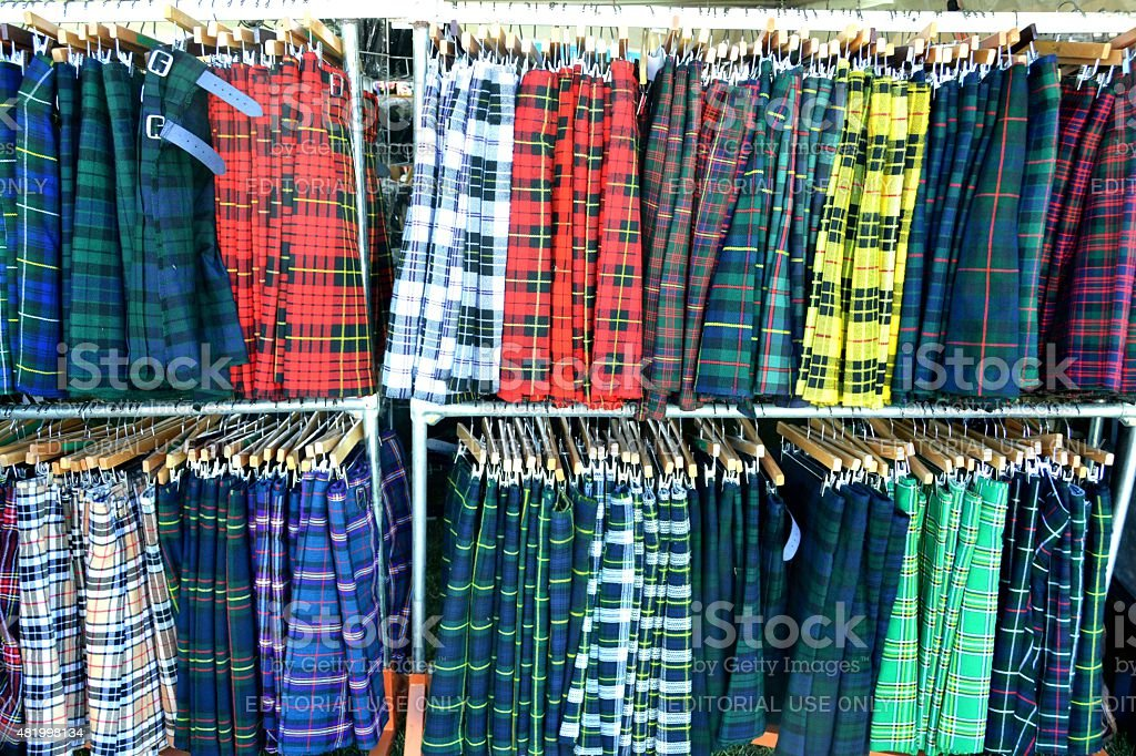 Different Colored Kilts stock photo