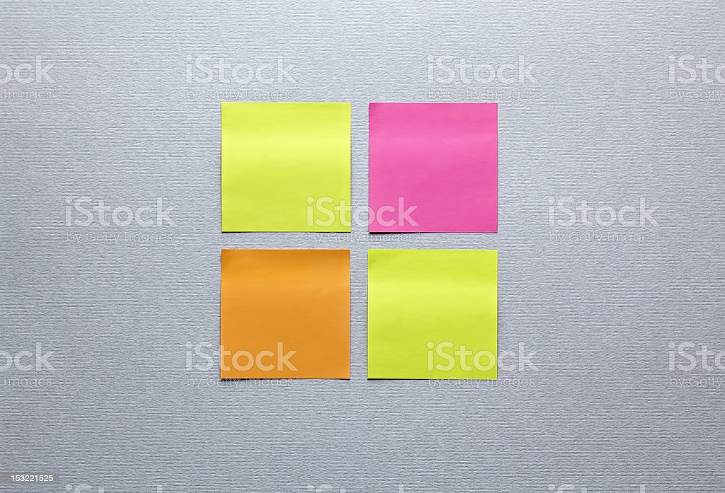 Different colors blank sticky notes royalty-free stock photo