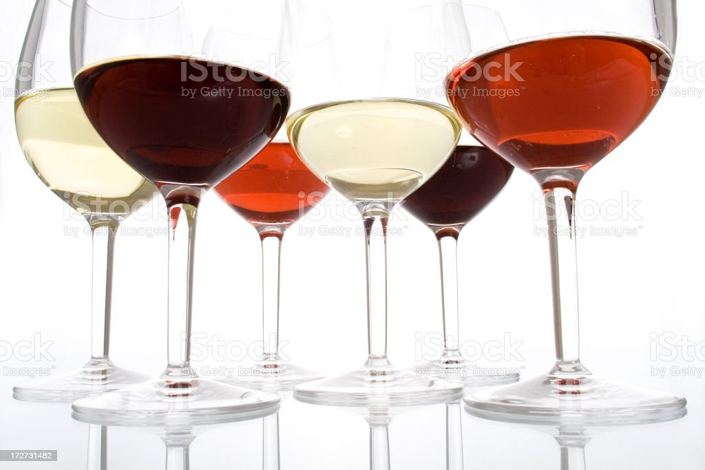 Different colors of wine royalty-free stock photo