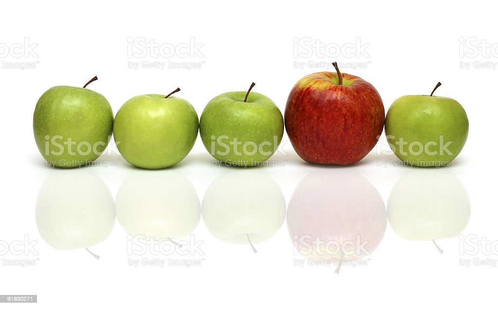 different concepts with apples royalty-free stock photo
