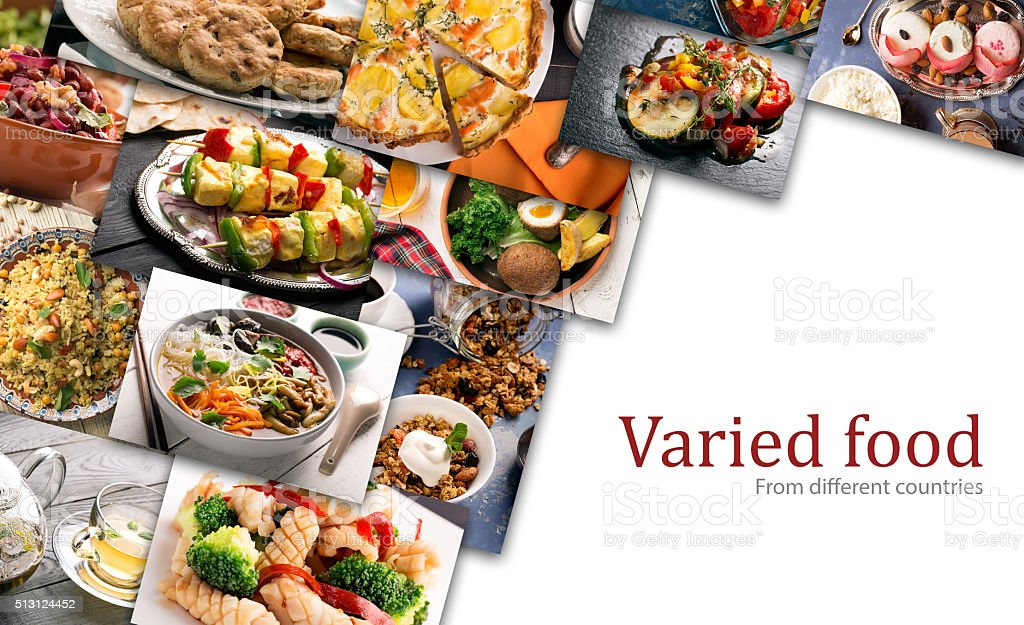 Different countries cuisine stock photo
