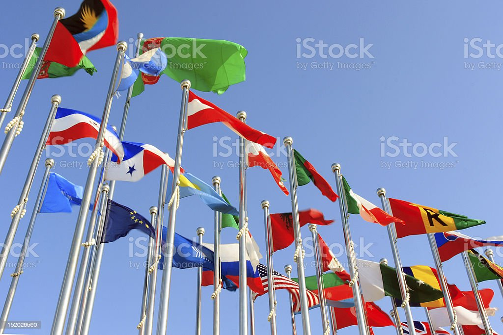 different countries flags royalty-free stock photo